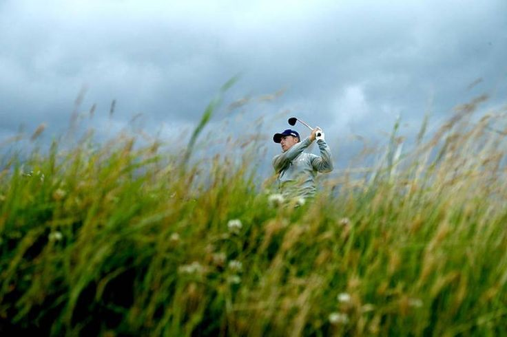 ST ANDREWS, SCOTLAND - JULY 17: Jordan Spieth of the United States tees off on the 9th hole during the second round of the 144th Open Championship at The Old Course on July 17, 2015 in St Andrews, Scotland. (Photo by Streeter Lecka/Getty Images)