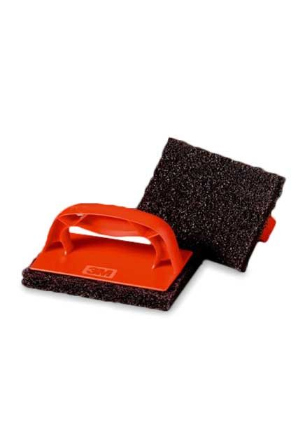 Tampon à récurer 3M pour plaques chauffantes ScotchBrick 9537