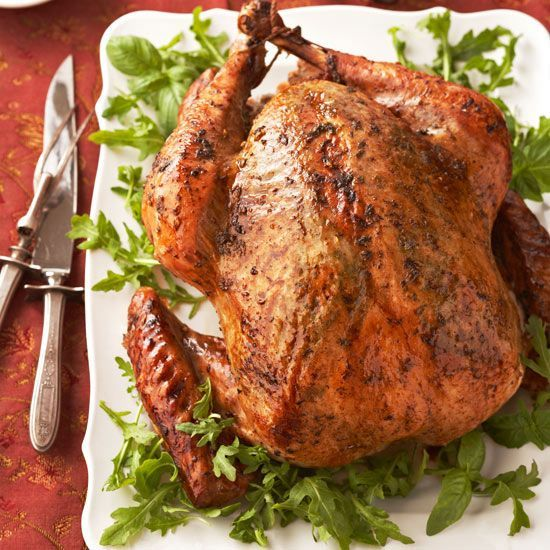 Fresh arugula and basil leaves infuse your Thanksgiving turkey with a peppery finish.