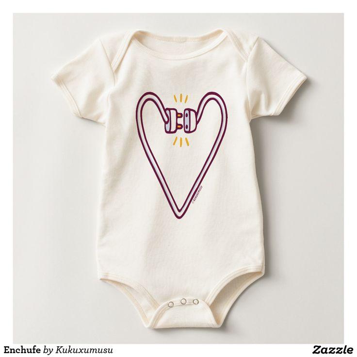 Enchufe. Baby, bebé. Producto disponible en tienda Zazzle. Vestuario, moda. Product available in Zazzle store. Fashion wardrobe. Regalos, Gifts. #camiseta #tshirt