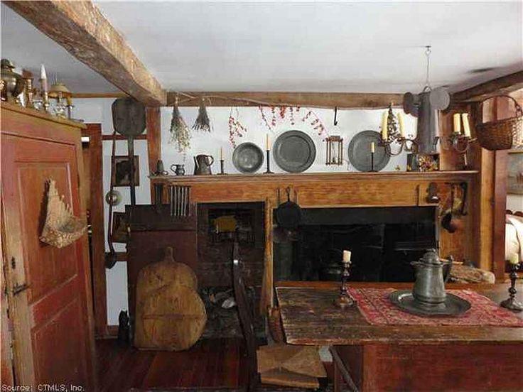 Wm. Bevin Haus, ca. 1748 ist ein seltener 1 1/2 stöckiger zentraler Schornstein Saltbox. Diese h …   – Old homes