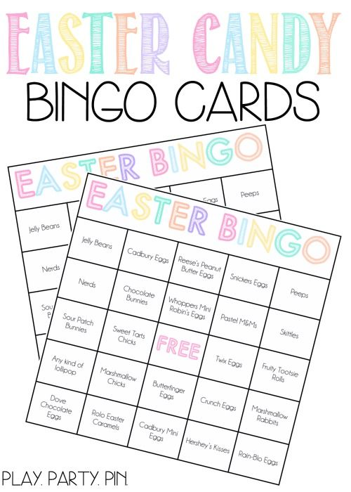 Looking for Easter party games? This Easter candy bingo is such a fun and creative idea, perfect for your Easter celebration!
