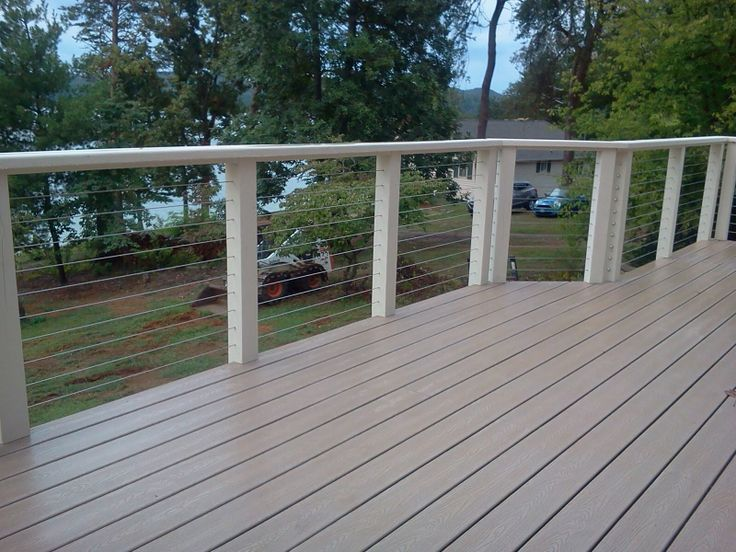 wire deck railing white - Google Search