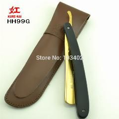 "[ $21 OFF ] 1 X ""kure-Nai"" Hh99G, Shave Ready Wooden Handle Plating Gold Folding Shaving Razor Single Blade Shave Razor"