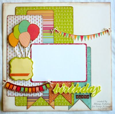 Layout Kit (1) with Kaisercraft Save the Date, created by Hilary Nicholas