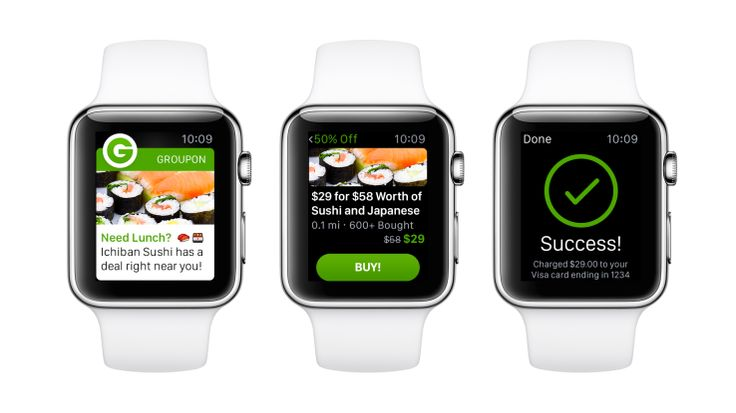 Groupon's New #Apple Watch App Alerts You To #Nearby Deals, Lets You #Buy From Your Wrist  http://wwww.moontechnolabs.com