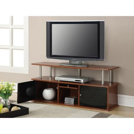 "Convenience Concepts Designs2Go Cherry TV Stand with 3 Cabinets for TVs up to 50"", Multiple Colors"
