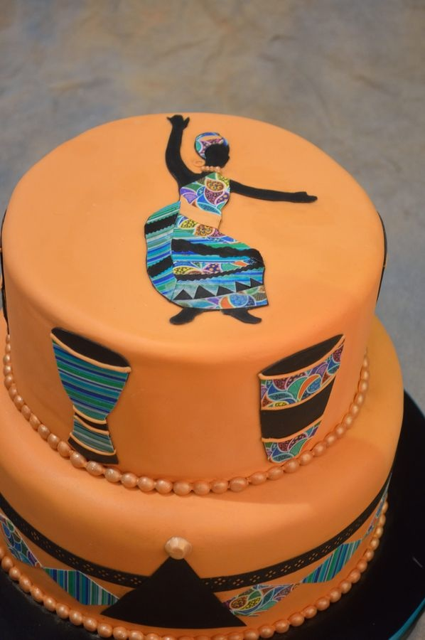 African Folk art themed cake made of the Icing Images category at the National Capital Area Cake Show. .. CakeCentral