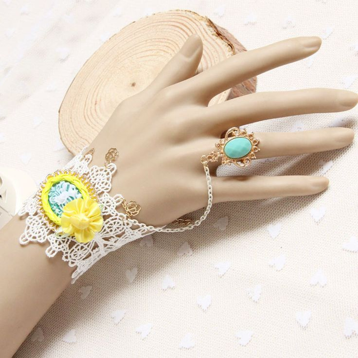 Принцесса сладкий Лолита браслет Мода розы белые кружева браслет аксессуары с ер ен ос один кусок цепи женский подарок на день рождения