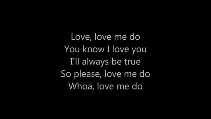 The Beatles - Love Me Do [Lyrics]