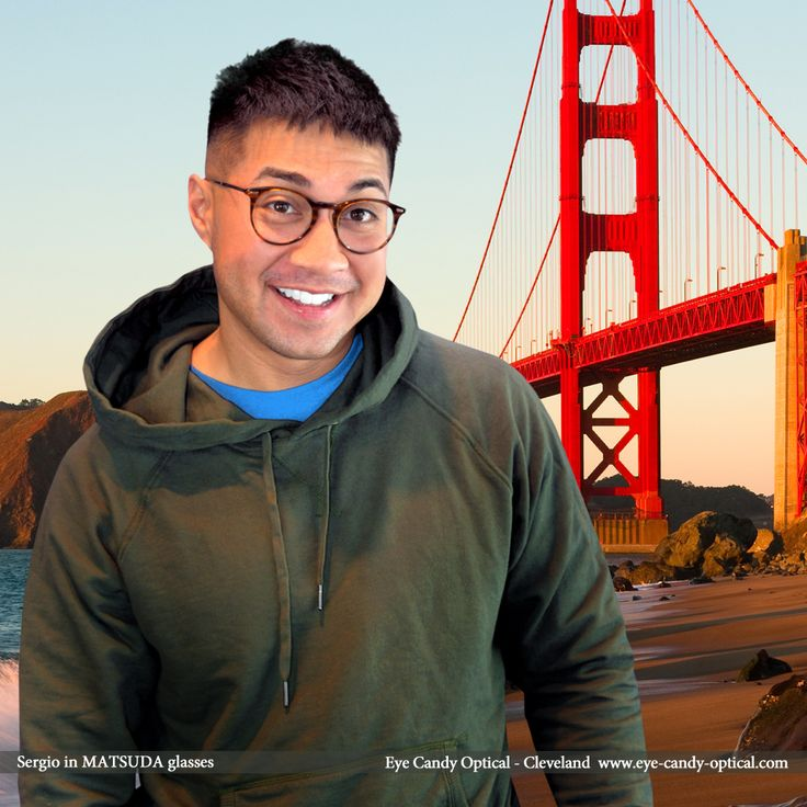Sergio loves San Francisco and his new California designer glasses by Matsuda.  Eye Candy - The Golden Bridge of the finest European Eyewear Fashion! Eye Candy Optical Cleveland - The Best Glasses Store! (440) 250-9191 - Book an Eye Exam Online or Over the Phone www.eye-candy-optical.com
