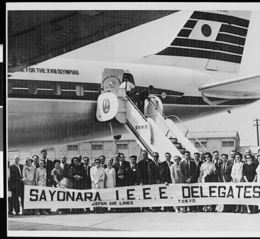Andrew and Erna Viterbi, with U.S. [IEEE] Delegates to Japan Conference, 1964. (photograph) :: Andrew J. and Erna Viterbi Family Archives