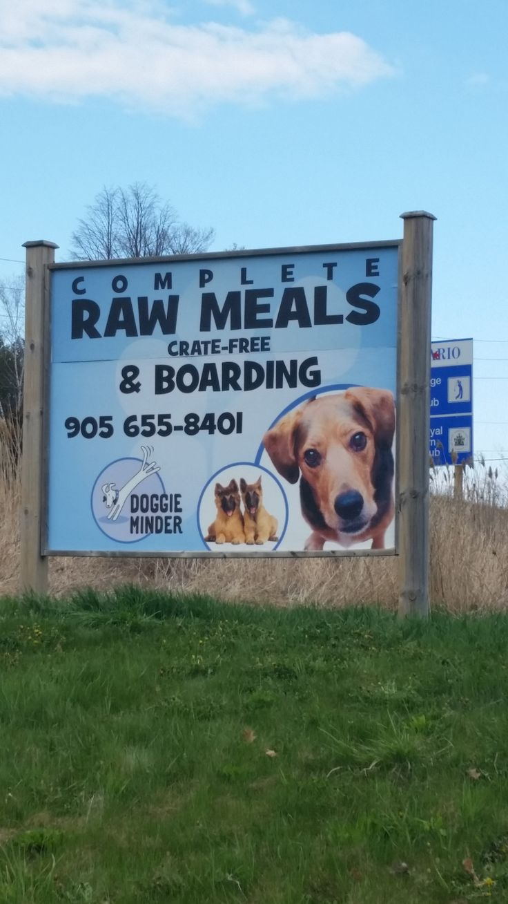 Doggie Minder contacted Speedpro Imaging Oshawa to design something to adhere to the top portion of their existing outdoor sign and to match the colour concept of the bottom portion. The client was thrilled with how well it matched!