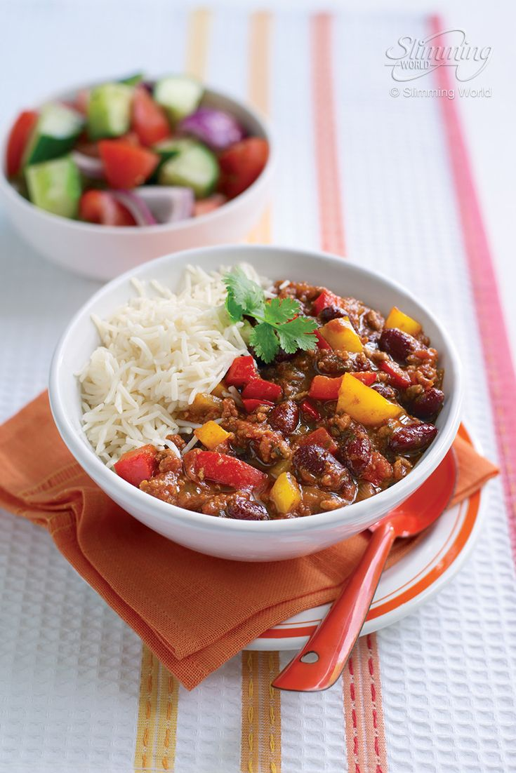 This classic chilli con carne is a quick and easy recipe that's bursting with fiery flavours that the family will love. If there's any leftovers - take them to work the next day!   http://www.slimmingworld.com/recipes/chilli-con-carne.aspx