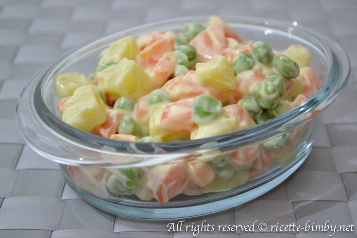 L'insalata russa è un piatto freddo, che può essere servito come antipasto ma anche come contorno e grazie all'aiuto del tuo bimby la preparazione risulterà semplice, ma soprattutto sana!