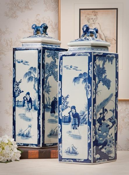 Blue and White Porcelain Jars