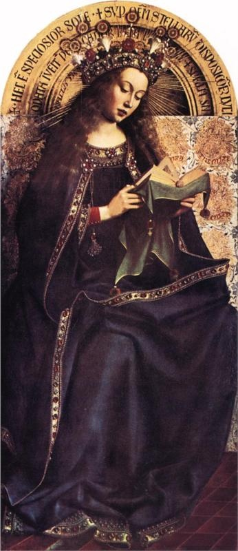 Jan van Eyck, The Virgin Mary from the Ghent Altarpiece, c. 1426 - 1429