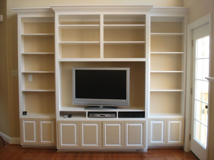 59 best images about bookcase wall on pinterest for Media center with bookshelves