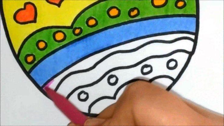 Как красиво нарисовать и раскрасить пасхальное яйцо ...