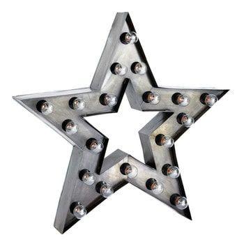 Metalen industriële stervormige ALABAMA wandlamp H 80 cm