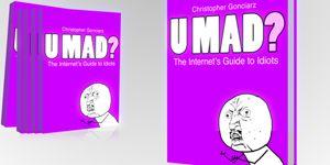 """""""U MAD? The Internet's Guide to Idiots"""" - po polsku """"Internetowy Przewodnik Po Opornych"""". Krótki esej, który w momencie anglojęzycznej premiery doszedł do Top 100 Amazona. O trollingu, hejcie i kłótniach w Internecie - z perspektywy użytkownika, twórcy treści, a także człowieka który nie może się nadziwić temu, co dzieje się w Interfnecie. Esej dostępny jest w formie elektronicznej na webshows.pl oraz legimi.pl"""