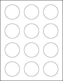 "OL2682- 2"" Circle Blank Label Template"