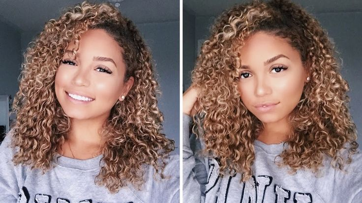 How To Clip-in Curly Extensions for 3b 3c Hair| Bella Kurls | Ashley Blo...