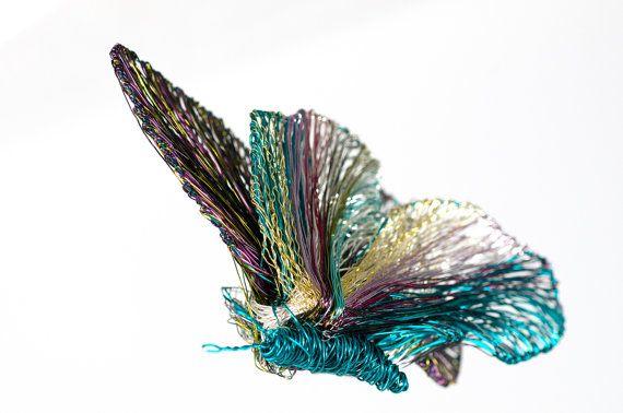 Art brooch Butterfly art brooch Insect Art jewelry by vmikro  $205.79