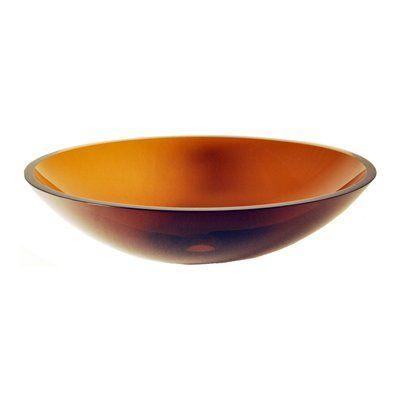 Novatto TIG-8012T Abbronzarsi Clear Tea Flat Oval Glass Vessel Sink