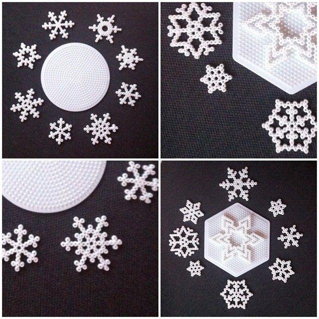 Winter snowflakes hama beads