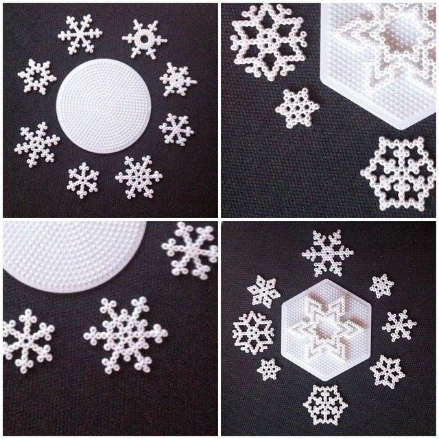 Winter snowflakes hama beads by buryyourhead