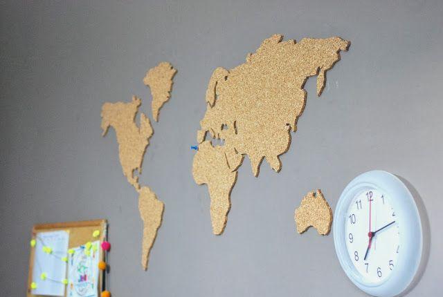 Le Grand Bazaar: ♥ Objet déco du désir #156: Carte du monde en liège ♥