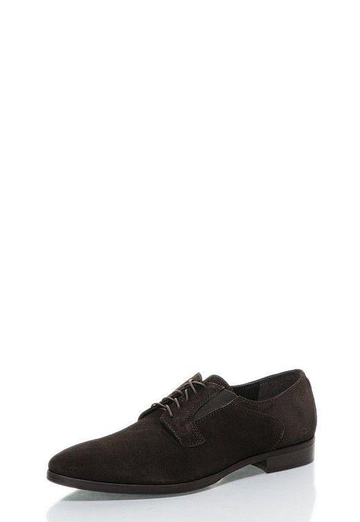 pantofi maro inchis din piele intoarsa cu siret http://pretoferta.ro/pantofi-maro-inchis-din-piele-intoarsa-cu-siret