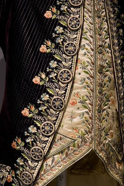 Embroidered Gentleman's Jacket and Waistcoat, 18th C.