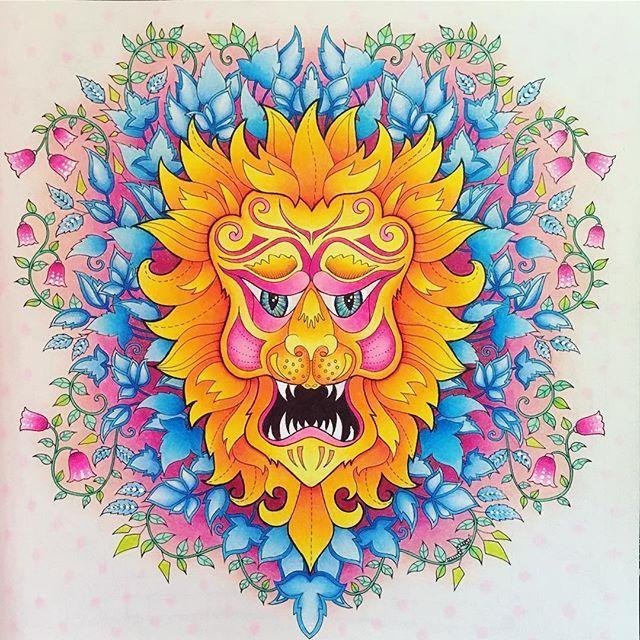 Forest Pictures Prismacolor Adult Coloring Books Johanna Basford Secret Garden The Lion King Pencil Art Markers Gates