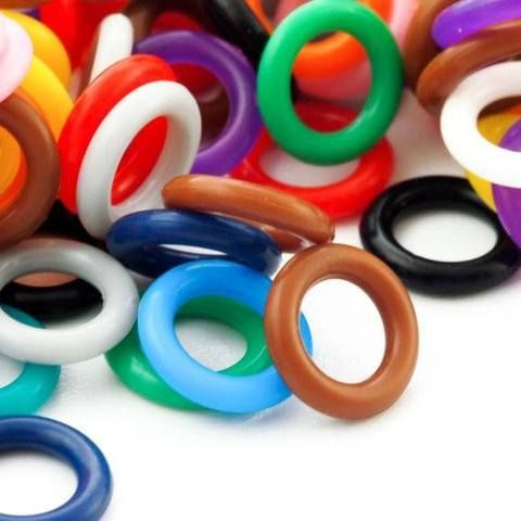 Rubber Rings - 100 - 10mm Silicone Jump Rings - You Pick Color - Black, White, Brown, Pink, Purple, Blue, Green, Yellow, Orange, Red Or Rainbow Mix