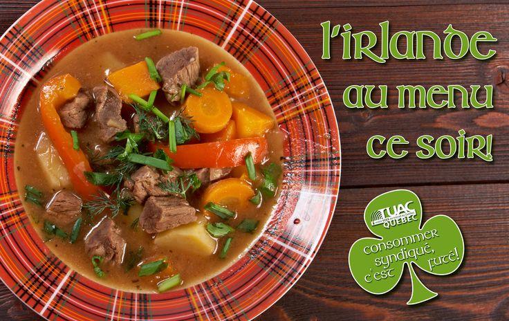 En cette journée de la Saint-Patrick, nous vous proposons une recette typiquement irlandaise, l'Irish stew, qui saura vous réchauffer de cet hiver qui s'accroche et ne veut pas terminer! #TUAC #UFCWCanada #UFCW #FTQ #SyndQC