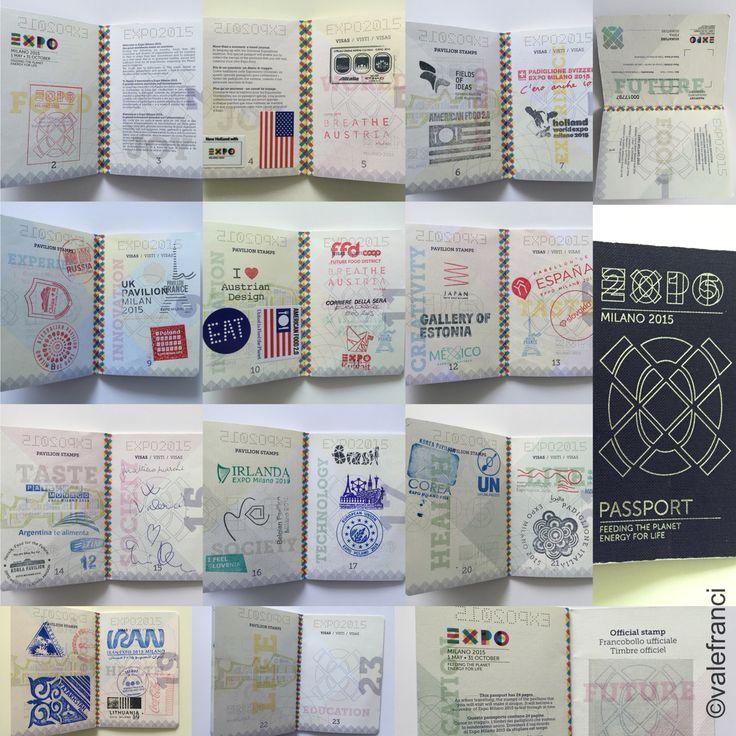 Il mio passaporto pieno di timbri e non solo... la mia pagina preferita: quella con la firma di Gualtiero Marchesi e la dedica di Giovanni Allevi