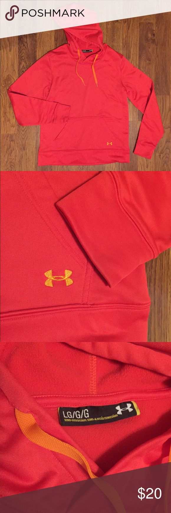 Underarmour Hoodie Burnt orange/red women's hoodie, in good condition, no stains or holes. Make an offer or bundle!! Under Armour Tops Sweatshirts & Hoodies