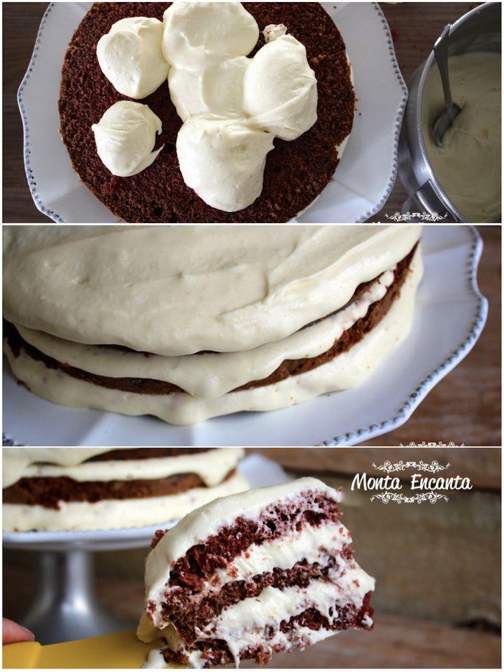O mais famoso bolo americano é um bolo de veludo vermelho, com recheio e cobertura branca deliciosa e super cremosa. E é a nossa receita de hoje. Bolo Red Velvet …