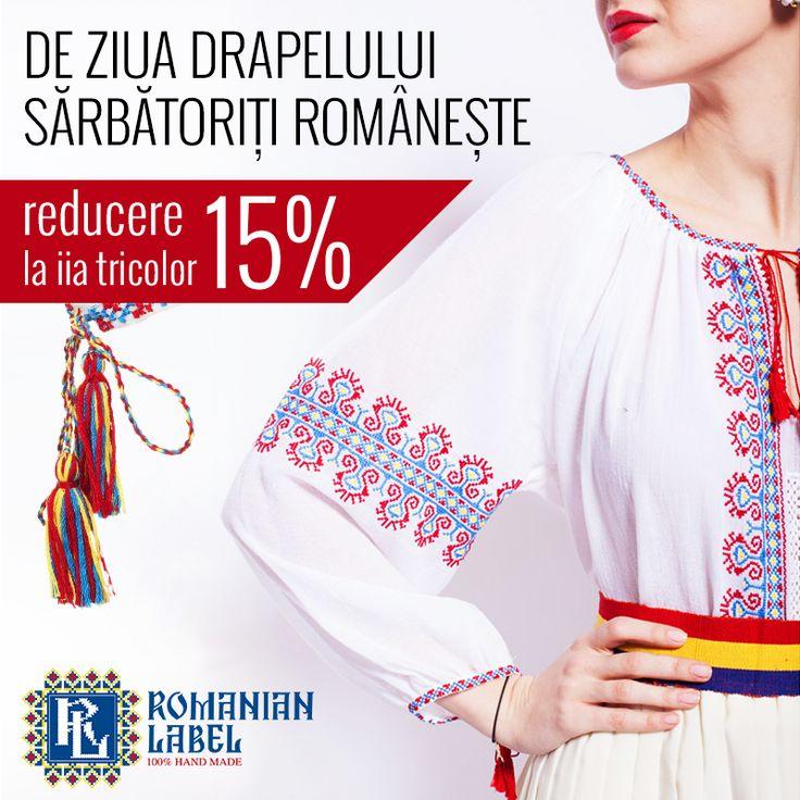 De Ziua Drapelului, alege sa porti romaneste! Doar AZI ai 15% reducere la IA tricolor.