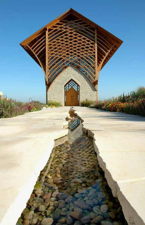 Stunning Chapel with Natural Prairie Setting   Holy Family Shrine