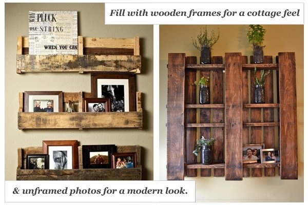 Pallet shelf styling