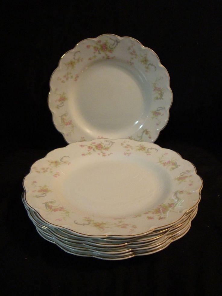 "Vintage Johnson Bros England The Baroda 10"" Dinner Plate- floral scalloped edge #JohnsonBros"