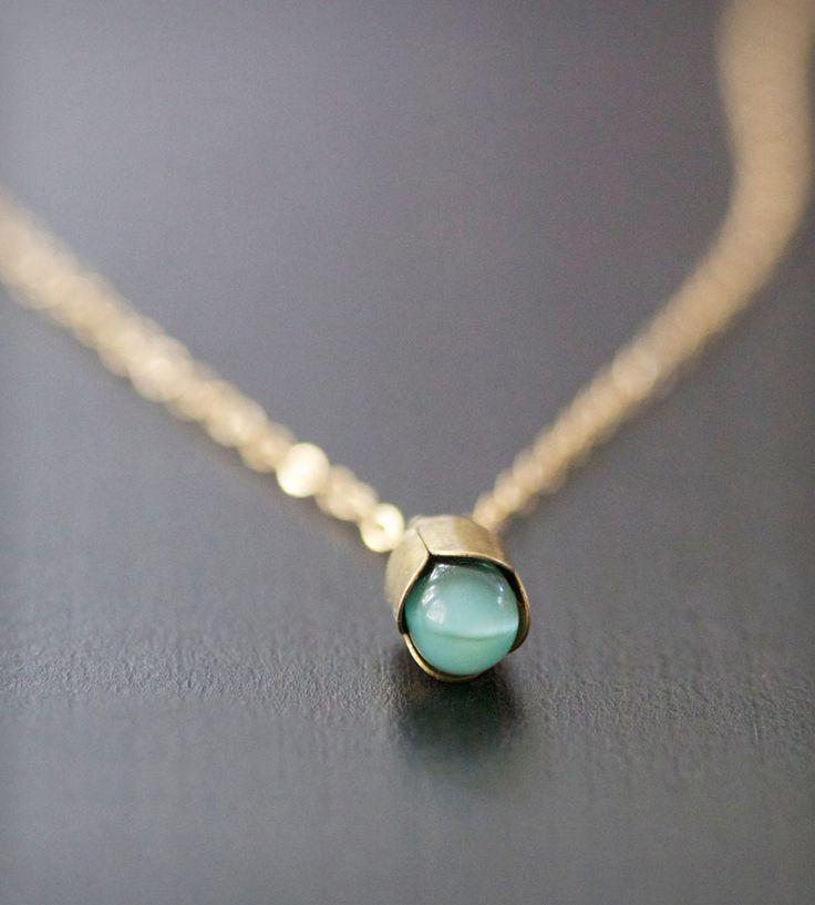 Blue Teardrop Pendant Necklace    Elephantine