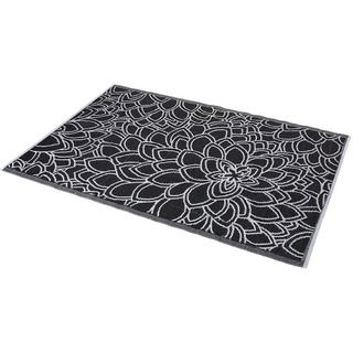 Black and White Indoor Outdoor Rug 6 x 4 India