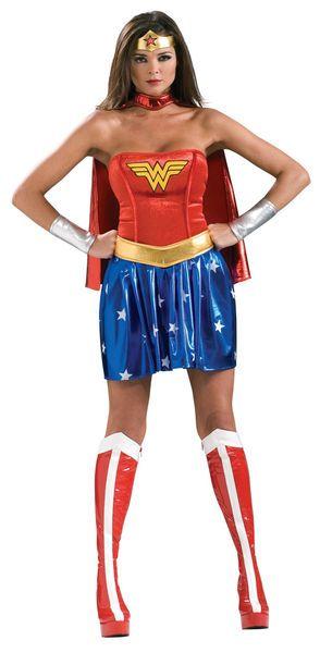 Naamiaisasu; Wonder Woman Deluxe  Lisensoitu Oikeuden puolustaja (Justice League) Wonder Woman, eli Ihmenainen Deluxe asu. #naamiaismaailma
