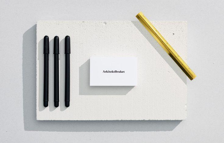 Business card front for architecture firm — Visitkort åt arkitektbyrå