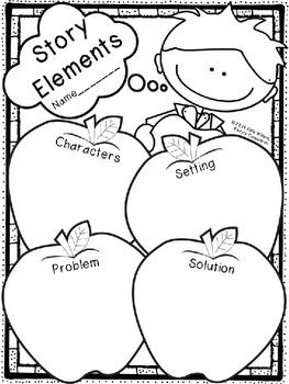 (FREE) This is a basic story elements graphic organizer with a twist... it's…