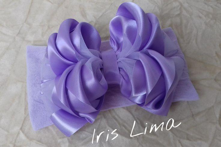 Como fazer laço mil faces triplo Diy ,Pap ,Tutorial By Iris Lima How To ...